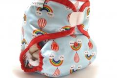 Rainbow 1-clodi Original Pocket PUL Ecobum,anak aktif,newborn cover,grosir clodi murah bagus, lokal,impor, rekomended, anti bocor,tidur malam,hemp,bamboo, mikro, prefold, birdy