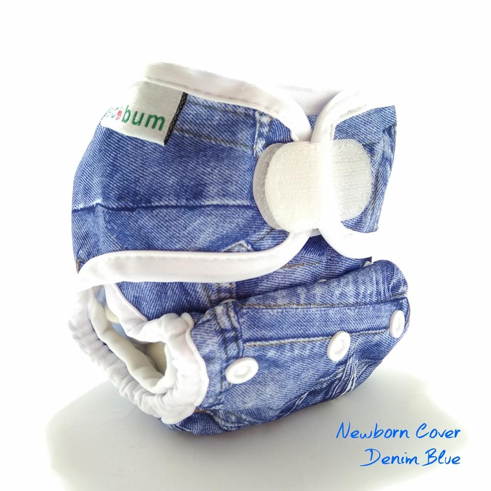 Denim Blue1-clodi newborn ecobum,clodi murah bagus, lokal,impor, rekomended, anti bocor, tidur malam, heavy wetter, bayi baru lahir, prefold