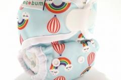 Rainbow1-clodi newborn ecobum,clodi murah bagus, lokal,impor, rekomended, anti bocor, tidur malam, heavy wetter, bayi baru lahir, prefold