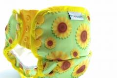 10.Sun Flower-clodi Pull up Pant PUL Ecobum,clodi murah bagus, lokal,impor, rekomended, anti bocor, heavy wetter,insert hemp,bamboo, mikro, prefold, birdy,swim
