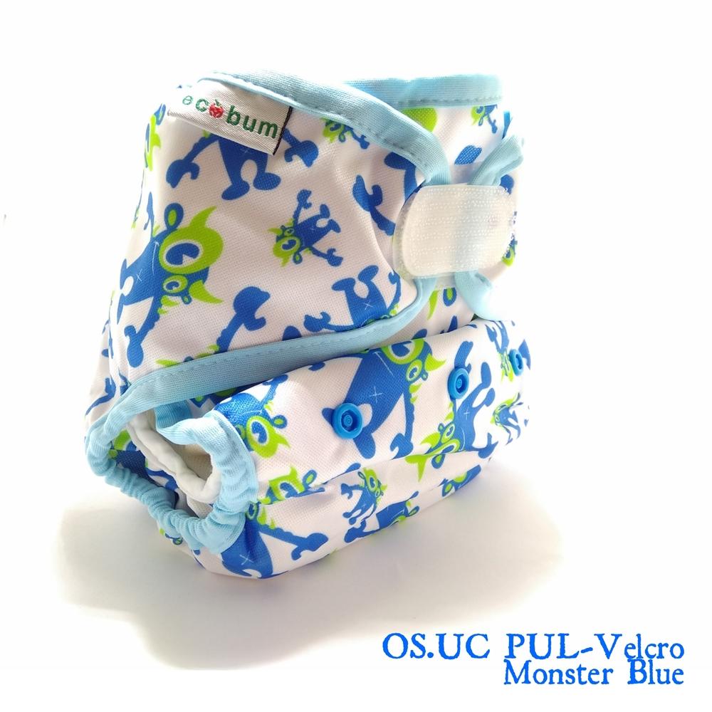 Moster Blue 1-clodi Universal Cover (UC),Original Pocket Ecobum,newborn cover,grosir clodi murah bagus, lokal,impor, rekomended,anti bocor,heavy wetter,hemp,bamboo,mikro, prefold